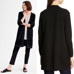 Eileen Fisher || NEW Black Simple Long Cardigan XL